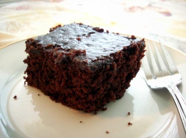 Eggless, butterless, milkless chocolate cake